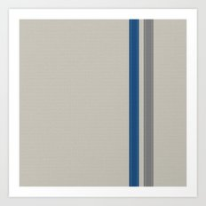 Blue & Grey Stripe Art Print