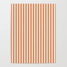 retro colored ticking style stripes Poster