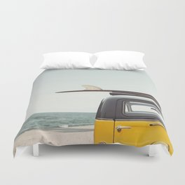 Surfing time Duvet Cover