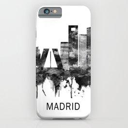 Madrid Spain Skyline BW iPhone Case