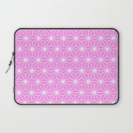 Girly Pink Geometric Flowers and Florals Isosceles Triangle Laptop Sleeve