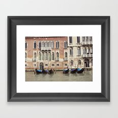 boat parking::venice, italy Framed Art Print