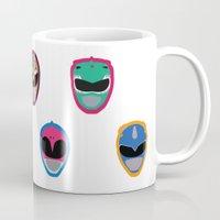 power rangers Mugs featuring Rangers by Ocelotdude Designs