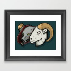 Sheep Skin Framed Art Print