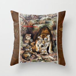 Tigers for Responsible Travel Throw Pillow
