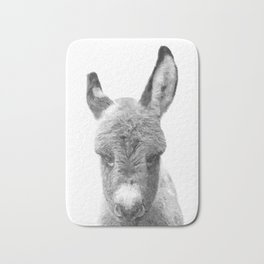 Black and White Baby Donkey Bath Mat