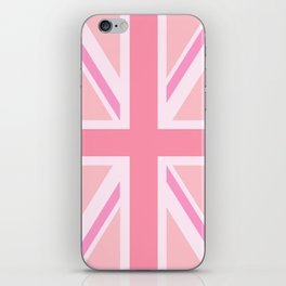Pink Union Jack/Flag Design iPhone Skin