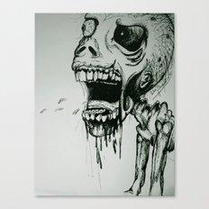 Scream Zombie! Canvas Print