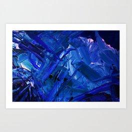 Creature in Ice Art Print