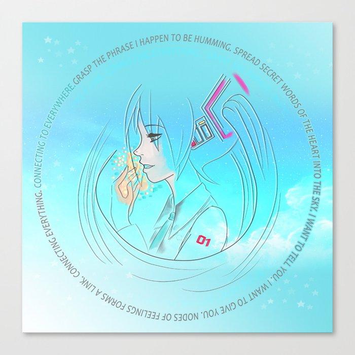 Birth Miku Hatsune Canvas Print