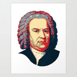 Bach Pop Art Art Print