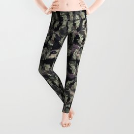Seamless distressed glitch blur woven texture background.  Leggings
