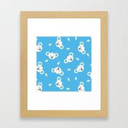 Koala Illustration Pattern Framed Art Print