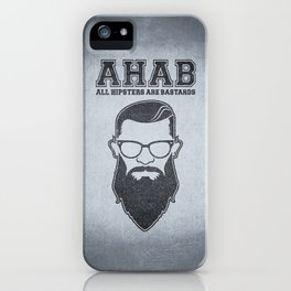 ALL HIPSTERS ARE BASTARDS - Funny (A.C.A.B) Parody iPhone Case