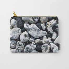 Black and White Rocks Mixed with Lava Rocks in Hawaii Carry-All Pouch
