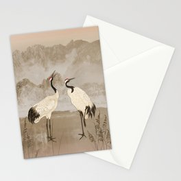 Wintering Manchurian Cranes Stationery Cards