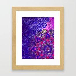 -A15- Colored Moroccan Mandala Artwork. Framed Art Print