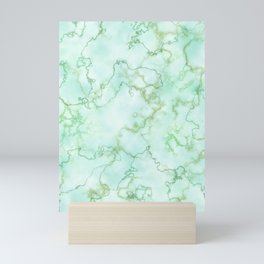 Marble Smaragd Gold Mini Art Print
