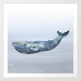 Deep Sea Whale Art Print