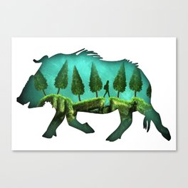 take a hike abstract backpack boar Canvas Print