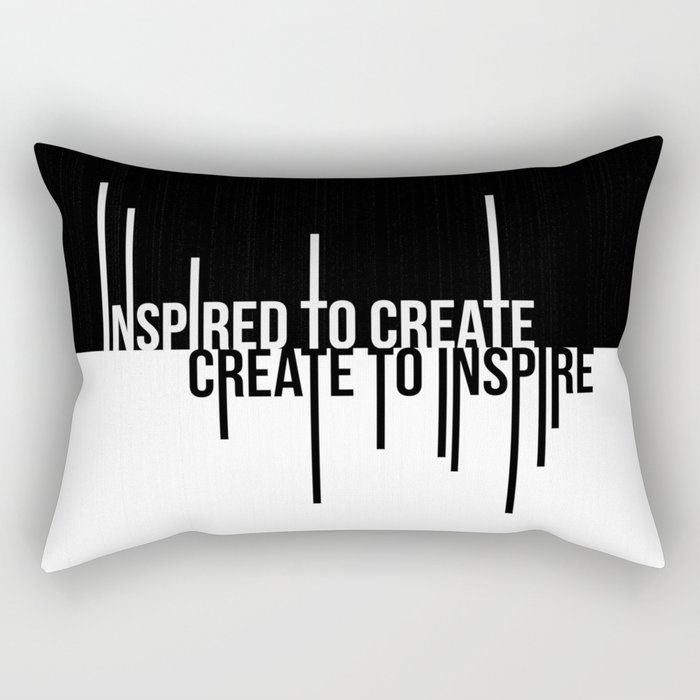 Create to Inspire Rectangular Pillow