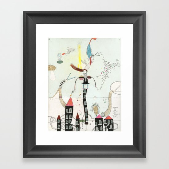 Desire creates the power. Framed Art Print