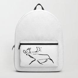 Ewenk deer carved on wood Backpack