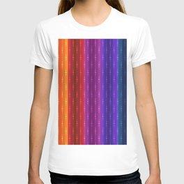 Jewel Tone Color Stripes T-shirt