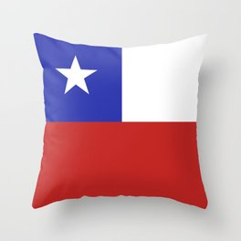 Chile flag emblem Throw Pillow