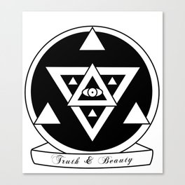Truth and Beauty Canvas Print
