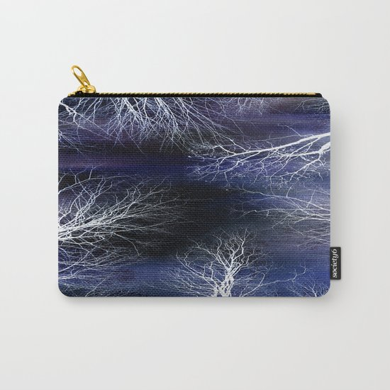 Abstract Midnight Trees Carry-All Pouch
