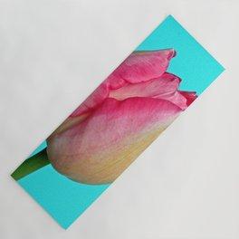 Blushing Pink Sun-kissed Tulip Yoga Mat