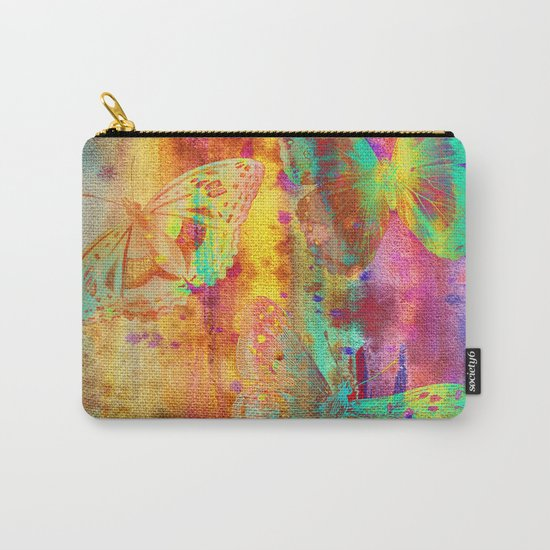 Colorful Butterfles Q Carry-All Pouch