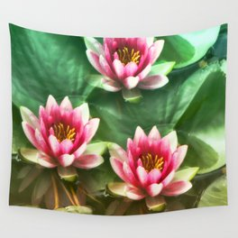 Waterlilies delicate Wall Tapestry