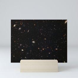 Hubble Space Telescope - A galactic gathering Mini Art Print