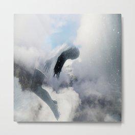 Woman and sky Metal Print