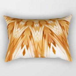 Mandala Art White Boho Rectangular Pillow