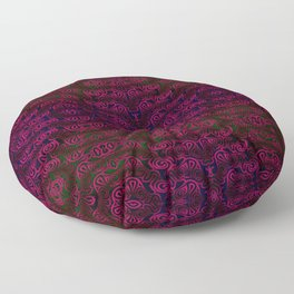 Dark red patterns Floor Pillow