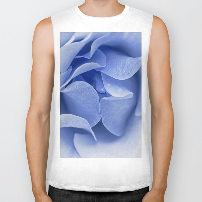 Blue flora Rose Bud- Roses and flowers Biker Tank