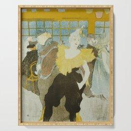 """Henri de Toulouse-Lautrec """"La Clownesse"""" Serving Tray"""