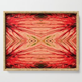 Strawberry Firethorn Quad III by Chris Sparks Serving Tray