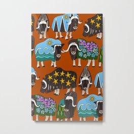 Alaskan musk ox rust Metal Print