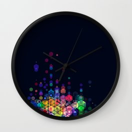 Monstrously colorful elementary particles Wall Clock