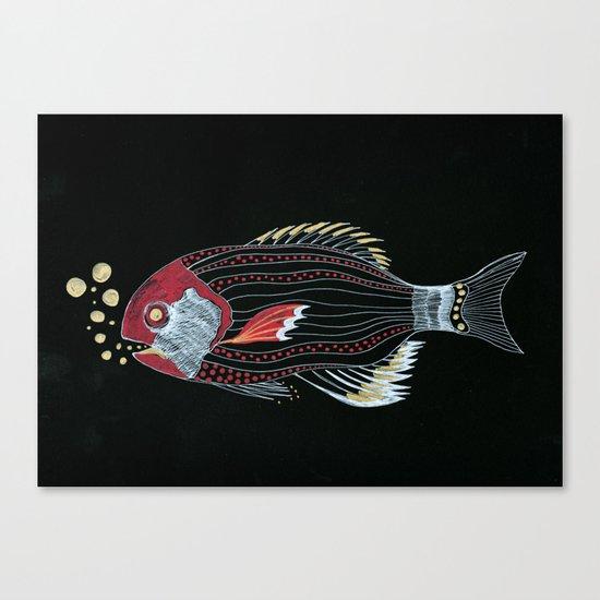 Happy New Fish  Canvas Print