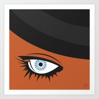 clockwork orange Art Prints featuring Clockwork Orange by Rosie Sobczuk