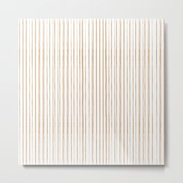thin orange lines Metal Print
