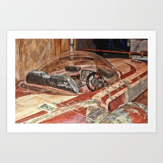 Landspeeder Cockpit Art Print