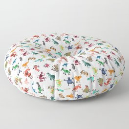 Colorful bunch Floor Pillow