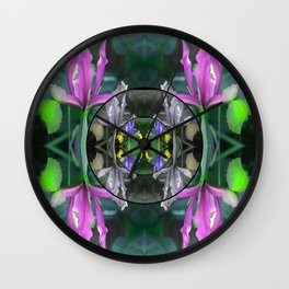 Spring Mandala Wall Clock