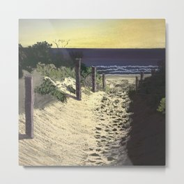 Evening Walk Metal Print